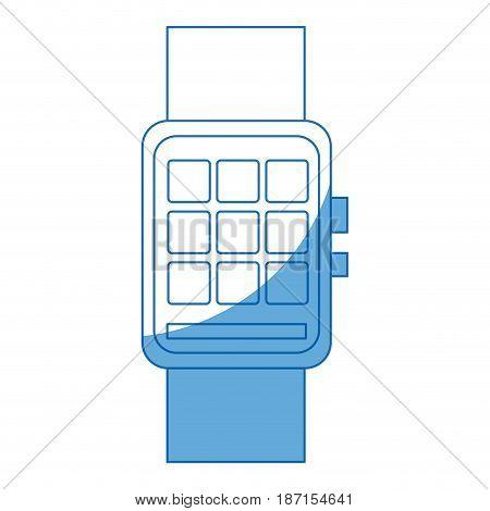 smart watch wearable technology digital display vector illustration