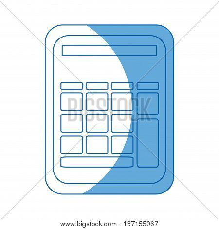 calculator math school accounting buttons vector illustration