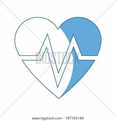 heart beat healthy medicinal cardiology symbol vector illustration