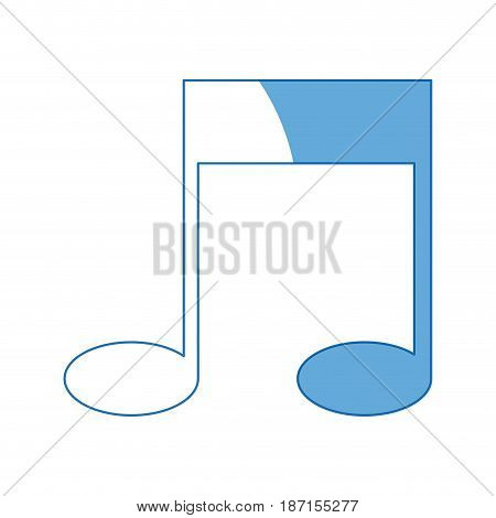 note music melody sound artistic vector illustration