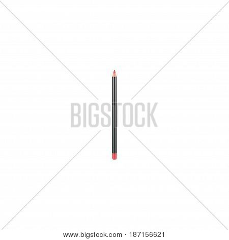Realistic Lip Pencil Element. Vector Illustration Of Realistic Mouth Pen Isolated On Clean Background. Can Be Used As Lip, Pencil And Cosmetics Symbols.