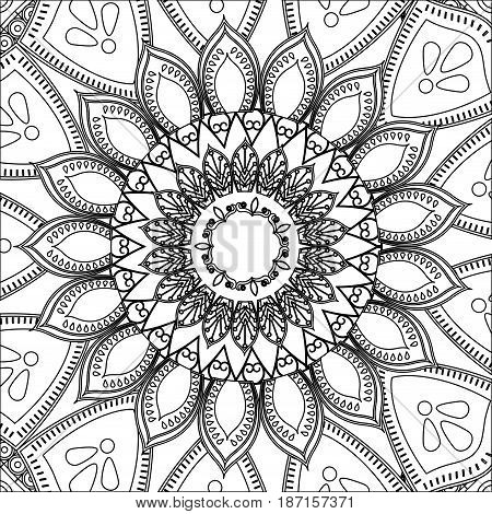 vintage mandala decoration scheme pattern vector ilustration