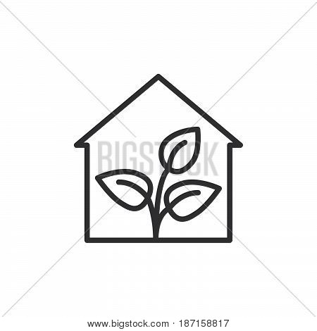 Greenhouse line icon outline vector sign linear style pictogram isolated on white. Symbol logo illustration. Editable stroke. Pixel perfect