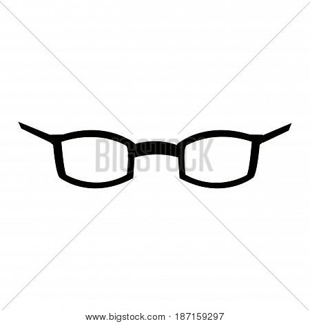 glasses accessory vision style cartoon vector illustration