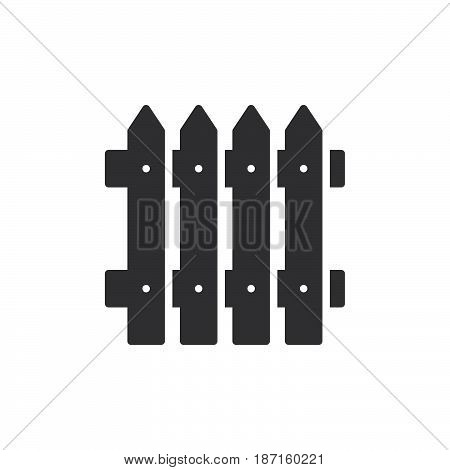 Plank fence icon vector filled flat sign solid pictogram isolated on white. Symbol logo illustration. Pixel perfect