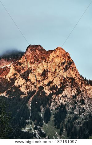 Mountain landscape in the Alps in the French Savoie