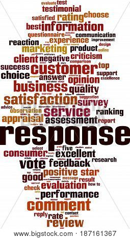 Response word cloud concept. Vector illustration on white