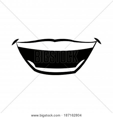 mouth man lips expression comic vector illustration
