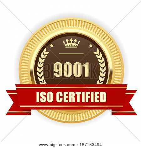 ISO 9001 certified medal - Quality management