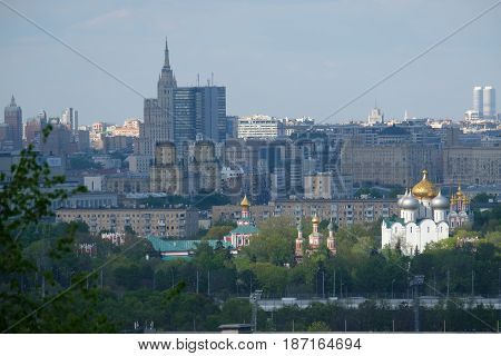 Moscow landscape - view from Sparrow Hills, Vorobyovy Gory, Observation Deck - Moscow, Russia