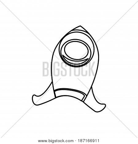 Rocket spaceship symbol icon vector illustration graphic design