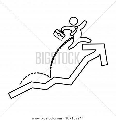 Business mens growing statistics icon vector illustration graphic design