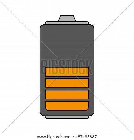 color image cartoon battery device with level vector illustration