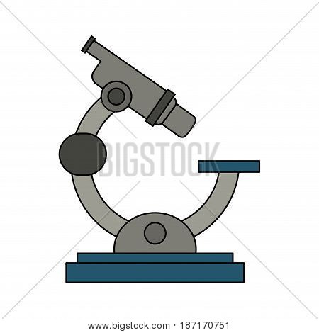 color image cartoon microscope science tool vector illustration