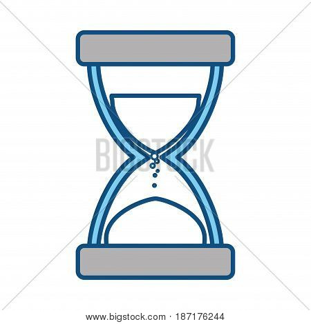 Hourglass time instrument icon vector illustration graphic design