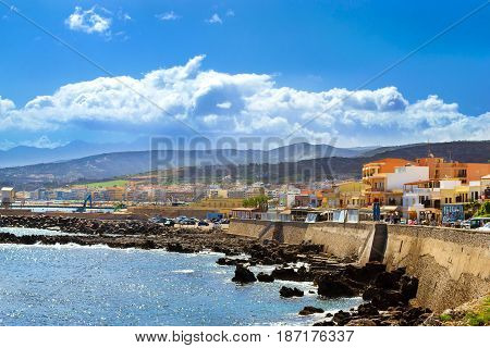 Embankment In Resort Rethymno, Crete, Greece