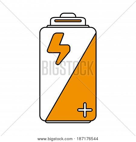 color silhouette image cartoon alkaline battery electricity charge vector illustration