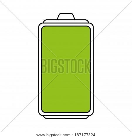 color silhouette image cartoon battery device with full load level vector illustration