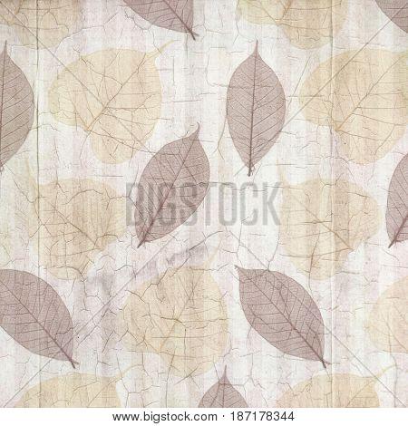 Antique White Cracked Linen Background