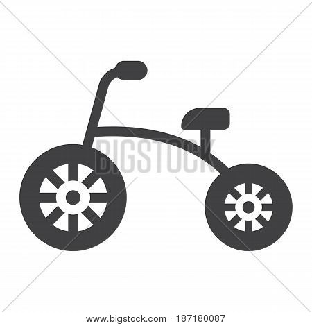 Tricycle solid icon, bike and toy, vector graphics, a filled pattern on a white background, eps 10.