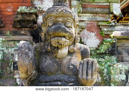 Traditional Statue At Pura Taman Ayun Temple In Mengwi, Bali, Indonesia