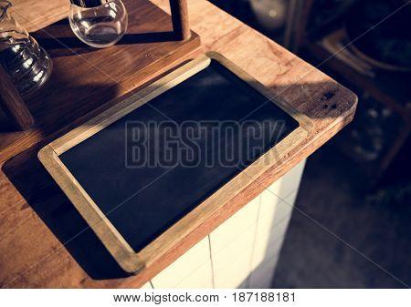 Black Board Show Blank Screen Nobody