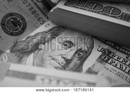 Money Black And White Close Up High Quality
