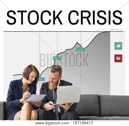 Stock Crisis Fail Money Concept