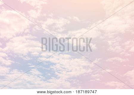 Sky with a pastel coloured gradient background