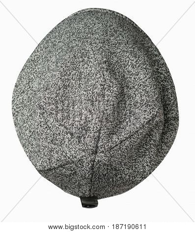 Hat Isolated On White Background .knitted Hat .gray Hat