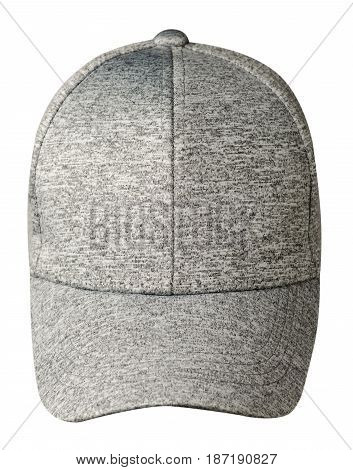 Sports Cap Isolated On A White Background.gray Cap