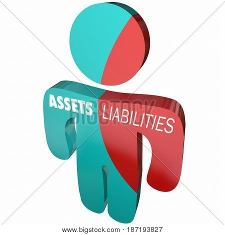 Assets Liabilities Company Business Accounting Person 3d Illustration