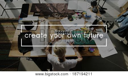 Creative your own future phrase overlay