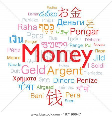 money word translated to the languages of the world