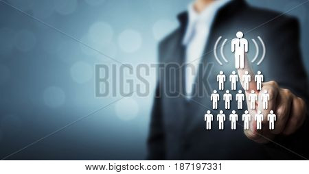 Human resources CRM and recruitment business concept