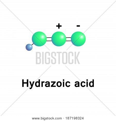 Hydrazoic acid, or hydrogen azide or azoimide, is a compound with the chemical formula HN3. It is a colorless, volatile, and explosive liquid at room temperature and pressure. It is  pnictogen hydride