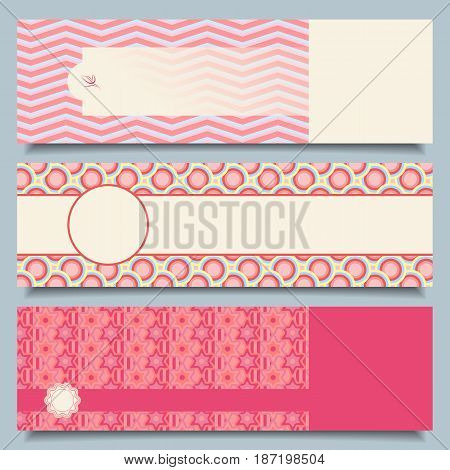 Set of abstract banners with decorative ornament