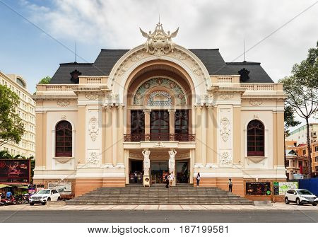 Facade Of The Saigon Opera House, Vietnam