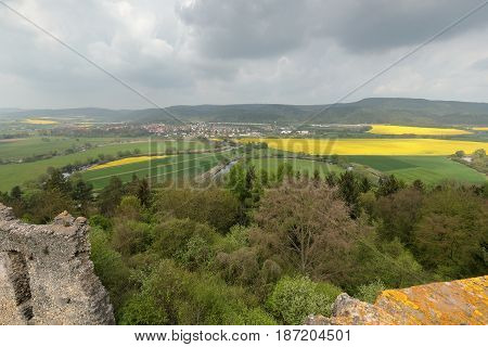 The Werra Valley between Hesse and Thuringia in Germany