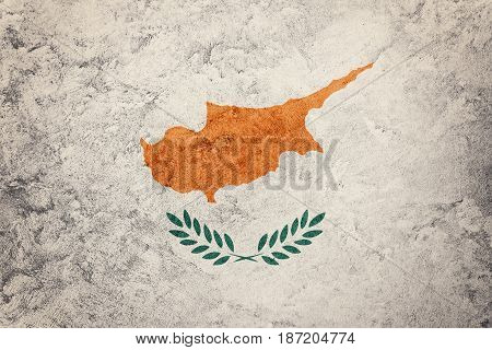 Grunge Cyprus Flag. Cyprus Flag With Grunge Texture.