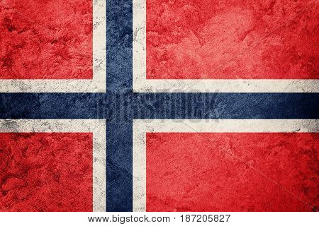 Grunge Norway Flag. Norway Flag With Grunge Texture.