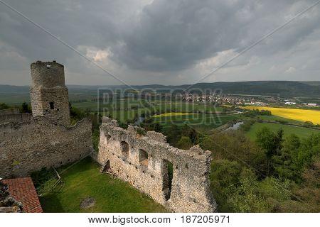 The ruin of Brandenburg near Eisenach in Germany