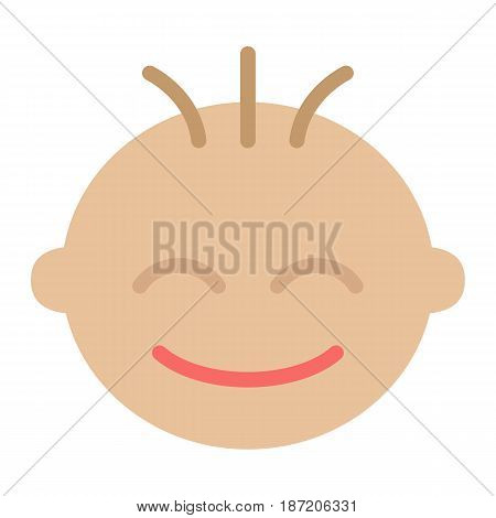 Baby boy flat icon, child and infant, vector graphics, a colorful solid pattern on a white background, eps 10.