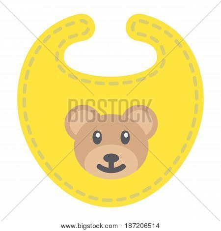 Baby bib flat icon, kid and clothes, vector graphics, a colorful solid pattern on a white background, eps 10.