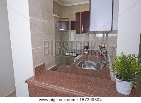Interior Decor Design Of Kitchen In Show Home Apartment