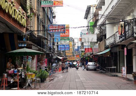 BANGKOK THAILAND- MAY 16 2017: Bangkok Chinatown is a popular tourist attraction and a food heaven for new generation gourmands.