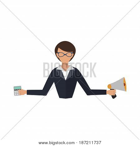Office job stress work vector illustration professional business woman day life business girl. Business situation hard job corporate labor credit people in action consultant
