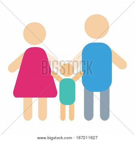 People silhouette happy family cartoon and relationship characters lifestyle vector illustration. Relaxed friends group adult together romantic casual vacation retirement human.