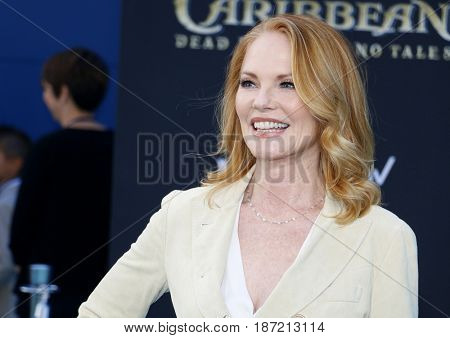 Marg Helgenberger at the U.S. premiere of 'Pirates Of The Caribbean: Dead Men Tell No Tales' held at the Dolby Theatre in Hollywood, USA on May 18, 2017.