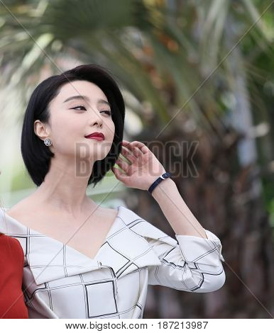 Fan Bingbing attends the Jury photocall during the 70th annual Cannes Film Festival at Palais des Festivals on May 17, 2017 in Cannes, France.